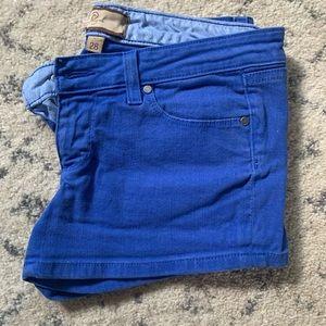 Paige shorts 28 royal blue jean